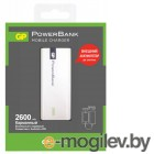 GP Portable PowerBank 1C02AWE Li-Ion 2600mAh 1A серебристый 1xUSB