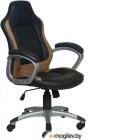 Кресло руководителя Бюрократ CH-825S/Black+Bl черный синий искусственная кожа (пластик серебро)