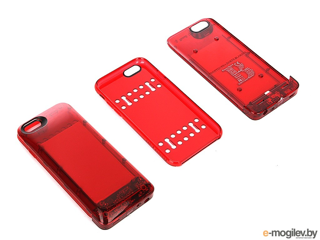 Чехол-аккумулятор Boostcase 2700 mAh для iPhone 6 / 6S Transparent Red BCH2700IP6-RBY