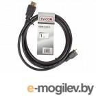 Кабель цифровой HDMI-HDMI 1.4V; 1m, плоский, белый, TV-COM <CG200FW-1M>