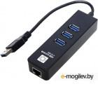 Переходник USB 3.0 -> RJ45 10/100/1000 Мбит/с + 3*USB3.0, 5bites (UA3-45-04BK), 10см