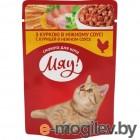 Мяу ! 100г (пауч) корм для взр кошек  С курицей в нежном соусе