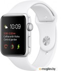 APPLE Watch 38mm Silver Aluminium Case with White Sport Band MNNG2RU/A