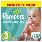 Pampers Active Baby-Dry Midi 5-9кг 208шт 8001090172518