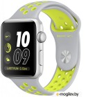 APPLE Watch Nike 42mm Silver Aluminium Case with Flat Silver-Volt Nike Sport Band MNYQ2RU/A