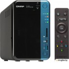 Сетевое хранилище без дисков SMB QNAP TS-253B-4G NAS, 2-tray w/o HDD. 2xHDMI-port. Quadcore Celeron J3455 1.5-2.3 GHz, 4GB DDR3L (2 x 2GB) up to 8GB, 2xGigabit LAN, Optional 10 Gigabit LAN