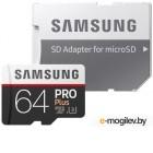 Samsung PRO Plus MB-MD64GA/RU microSDXC Memory Card 64Gb Class10 UHS-I U3+  microSD--> SD Adapter