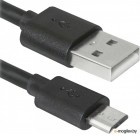 Кабель USB 2.0 (AM) -> Micro USB (BM), 1.0m, Defender USB08-03BH, черный (87476)