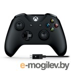 Геймпад Microsoft XBOX One Wireless Controller Black  Adapter for Windows 10 4N6-00002