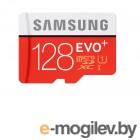 Samsung EVO Plus v2 MicroSDXC 128GB UHS-I U3 + SD Adapter (R100/W90Mb/s) (MB-MC128GA/RU)