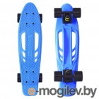Y-SCOO Skateboard Fishbone 22 Blue-Black 405-B