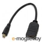micro HDMI (M) -> HDMI (F), v1.4b,  0,15m, позолоченные контакты, 5bites (BC-HDM2AF)