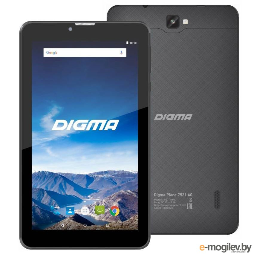 Digma Plane 7521 4G PS7134ML Black MTK8735M 1.0 GHz/1024Mb/16Gb/GPS/Wi-Fi/Cam/7.0/1024x600/Android 475572