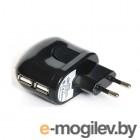 Универсальное сетевое зарядное устройство KS-IS Toss (KS-056W) для мобильных устройств,  2 * USB2.0, 5V, 2000мА, Белый, RTL
