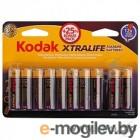 Батарейка Kodak LR6-8+2BL XTRALIFE  [KAA-8+2] (120/480/19200) (10шт в уп-ке)