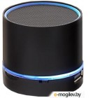 Портативная колонка GINZZU GM-870B {3Вт, 150Гц-18КГц, 300мАч, microSD, USB-flash, FM-радио, светодиодная подсветка музыкального сопровождения, цвет: черный}