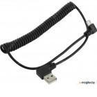 [NEW] Orient <MU-215T1> Кабель-переходник USB 2.0 AM-->micro-B  1.5м,  спиральный, Г-образный коннектор