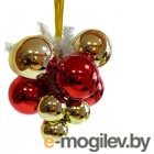 Snowmen Гроздь шаров Glossy Red-Gold ЕК0152