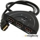Переключатель HDMI электронный, Cablexpert DSW-HDMI-35 HD19Fx3/19F, 3 устройства -> 1 монитор/ТВ, пульт ДУ