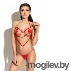 Портупея Me Seduce Queen of hearts Pure красная-S/M