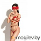 Портупея Me Seduce Queen of hearts Hussard красная-S/M