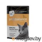 ProBalance 85 г. Immuno Protection корм для кошек c говядиной в соусе (пауч)