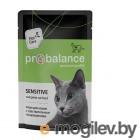 ProBalance 85 г. Sensitive корм для кошек чувствительное пищеварение (пауч)