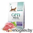 Optimeal 4 кг., сухой корм для взрослых кошек с эффектом выведения шерсти - утка