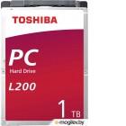 Накопитель на жестком магнитном диске TOSHIBA Жесткий диск TOSHIBA HDWL110UZSVA/HDKCB88ZKA01T L200 Slim (7mm) 1ТБ 2,5 5400RPM 128MB SATA-III