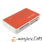 Картридер USB 2.0 - PC PET [CR-211ROG] 24 in 1 Rubber Orange