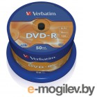 DVD-R [ 50 шт. туба ] Verbatim 16x /4,7Gb/ - Advanced AZO  #43548
