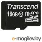 Transcend Micro-SDHC Card 16Gb Class10 TS16GUSDC10