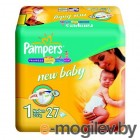 PAMPERS New Baby Newborn 1 2-5 кг 27шт