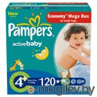 Подгузники. PAMPERS Active Baby Maxi Plus 4+ 9-16 кг 120шт