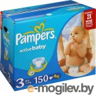 PAMPERS Active Baby Midi 3 4-9 кг 150 шт
