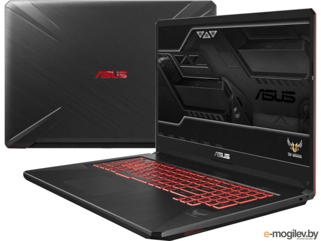 Нетбуки & ноутбуки ASUS FX705GE-EW096 90NR00Z2-M02040 Black (Intel Core i7-8750H 2.2 GHz/8192Mb/1000Gb + 128Gb SSD/No ODD/nVidia GeForce GTX 1050 Ti 4096Mb/Wi-Fi/Bluetooth/Cam/17.3/1920x1080/DOS)