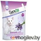 Наполнитель для туалета Sanicat Professional Diamonds Lavender (5л)