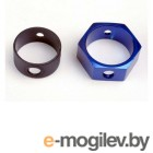 Brake adapter, hex aluminum (blue).