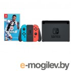 Nintendo Switch Neon Red-Neon Blue + FIFA 19