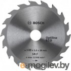 Диск 254х30 40 зубов OPTILINE ECO BOSCH
