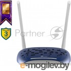 Маршрутизатор TP-Link VDSL/ADSL 300Mbps Wi-Fi VDSL/ADSL Modem Router,  802.11b/g/n, 300Mbps at 2.4GHz, 4 FE LAN ports, 2 fixed antennas, Clound Support, with VDSL splitter, Annex A/B