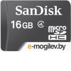 SanDisk microSDHC 16Gb Class 4+adapter SDSDQM-016G-B35A