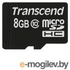Transcend micro-SDHC Card 8Gb Class10 TS8GUSDC10
