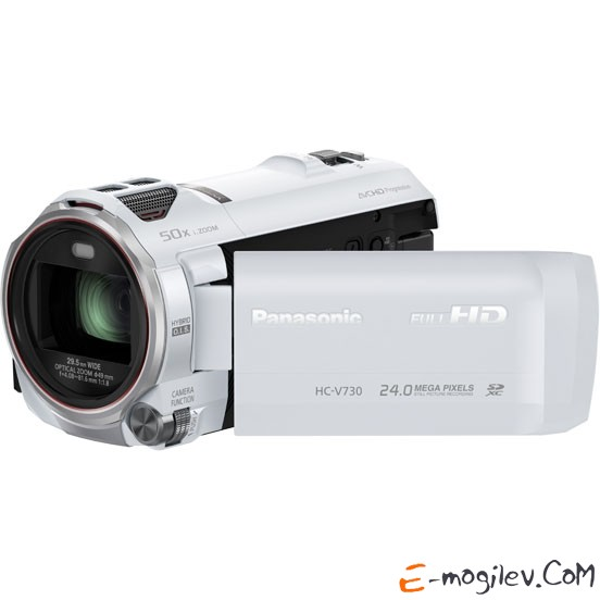 Panasonic HC-V730 white 1CMOS 20x IS opt 3 1080p SDHC Flash Flash