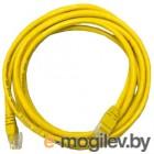 Patch cord UTP 5 level 5m   Желтый