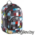 Рюкзак Coocazoo Ray Day 24L Checkmate Blue Red серый/бирюзовый