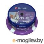 Verbatim DVD+R 4.7Gb 16x 25 шт Cake Box Printable 43539