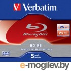 VERBATIM  BD-RE 25 GB 2x JC/5  43615