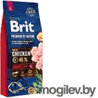 Корм для собак Brit Premium by Nature Adult L / 526468 (15кг)