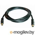 S-Video (M) -> S-Video (M),  1.5m, Vcom (VAV7187-1.5M), позолоченные контакты, черный